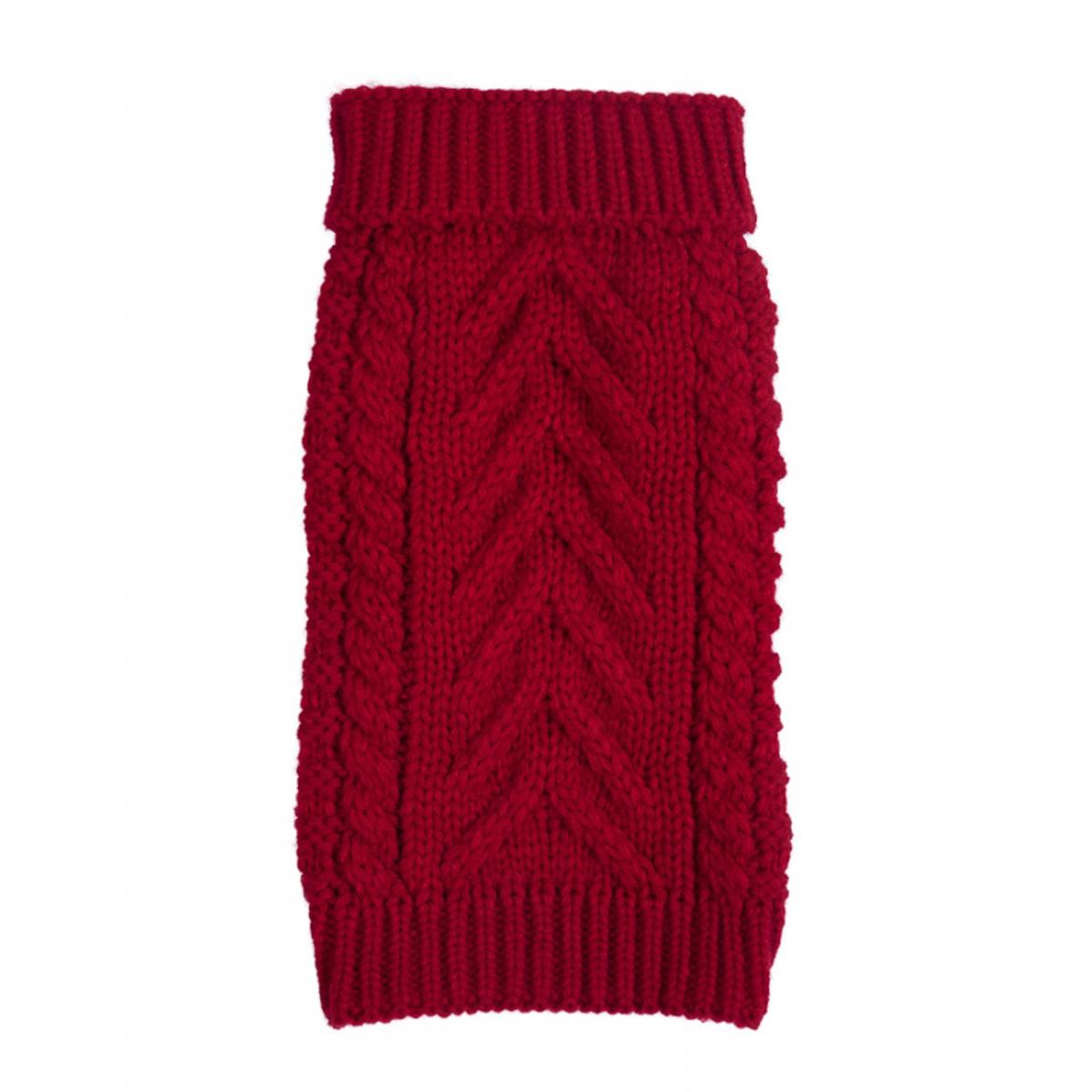 fabdog® Chunky Turtleneck Dog Sweater - Red