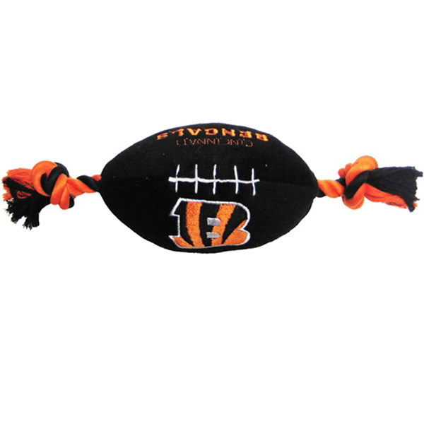 Cincinnati Bengals Plush Football Dog Toy
