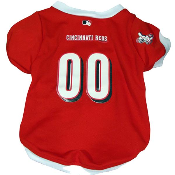 Cincinnati Reds Dog Jersey - White Trim