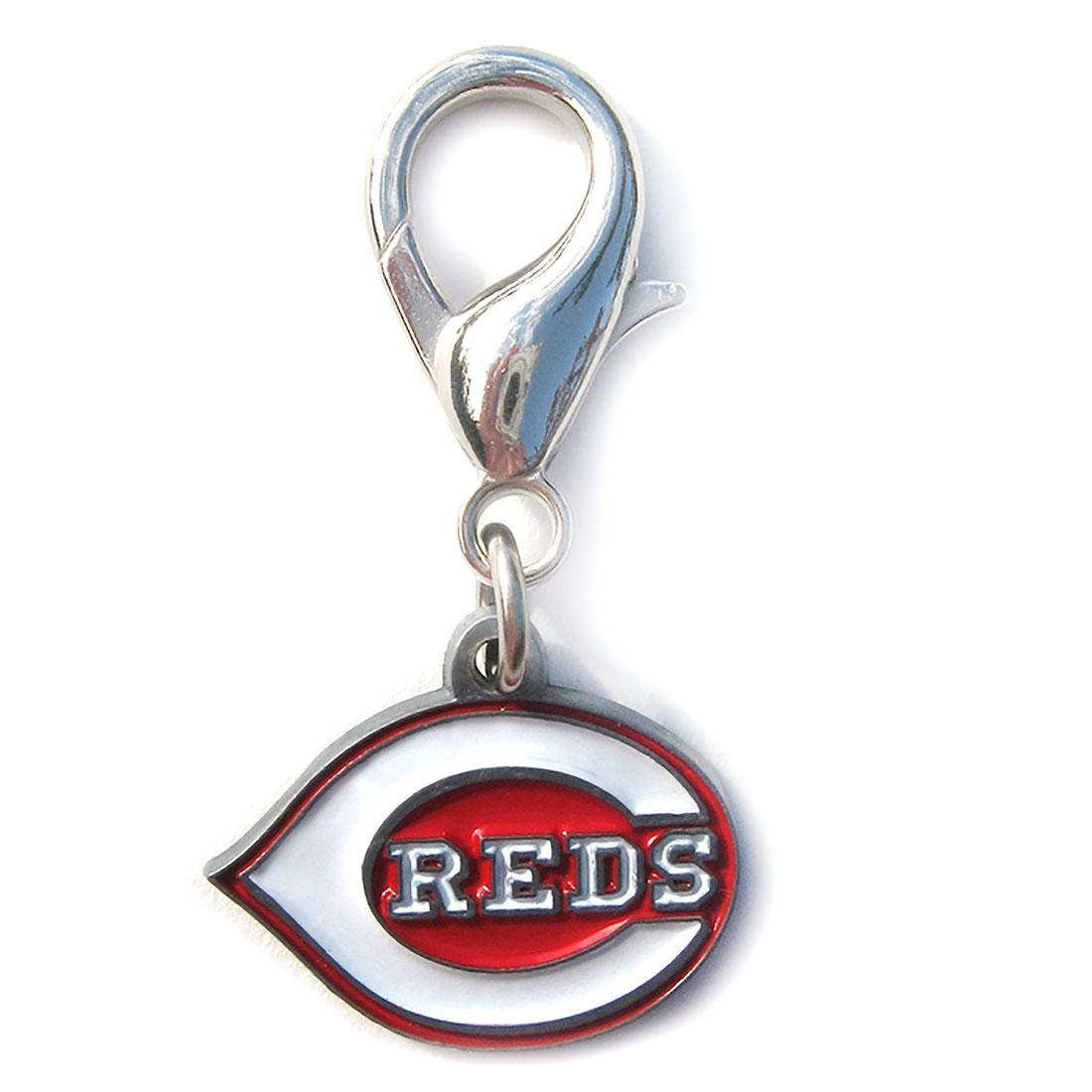 Cincinnati Reds Logo Dog Collar Charm