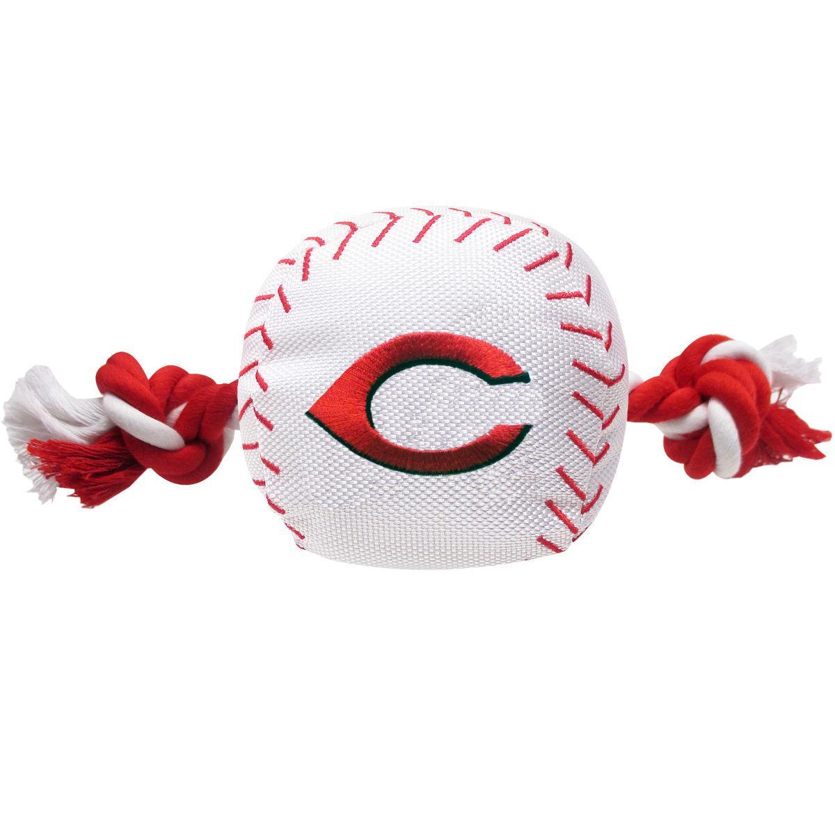 Cincinnati Reds Nylon Plush Baseball Rope Dog Toy