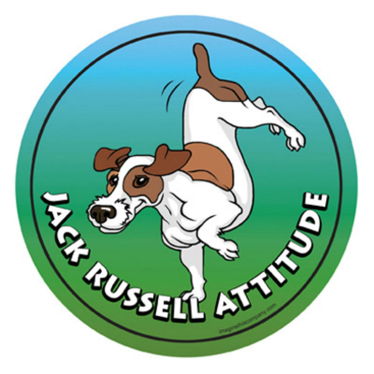 Circle Attitude Magnet Collection - Jack Russell