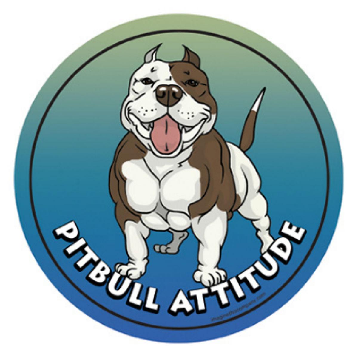 Circle Attitude Magnet Collection - Pitbull
