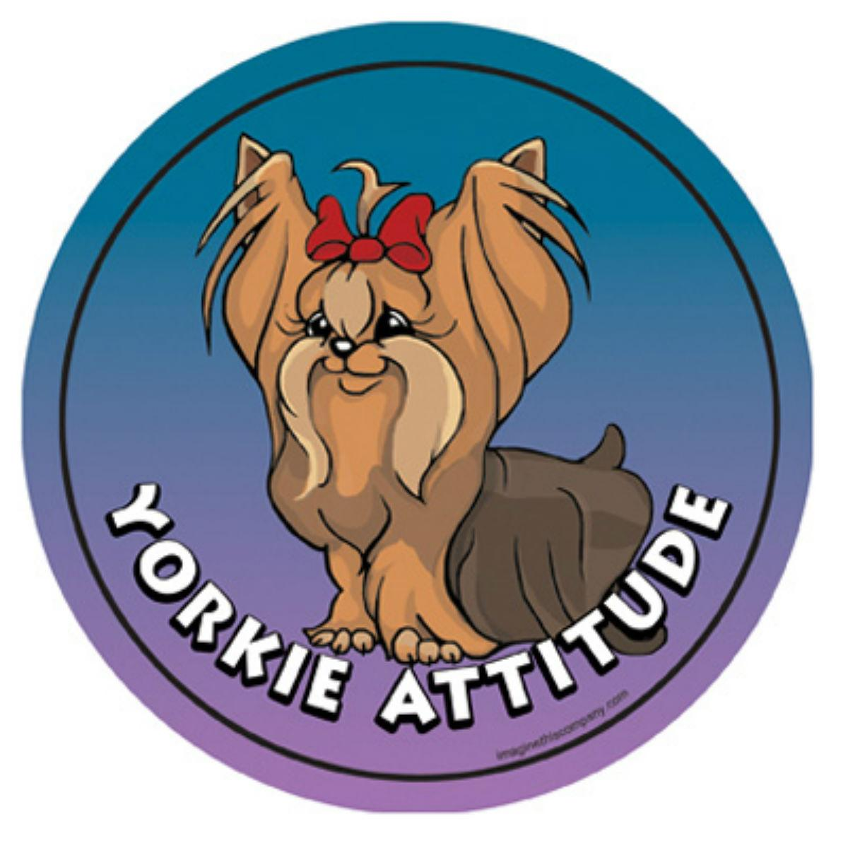 Circle Attitude Magnet Collection - Yorkie