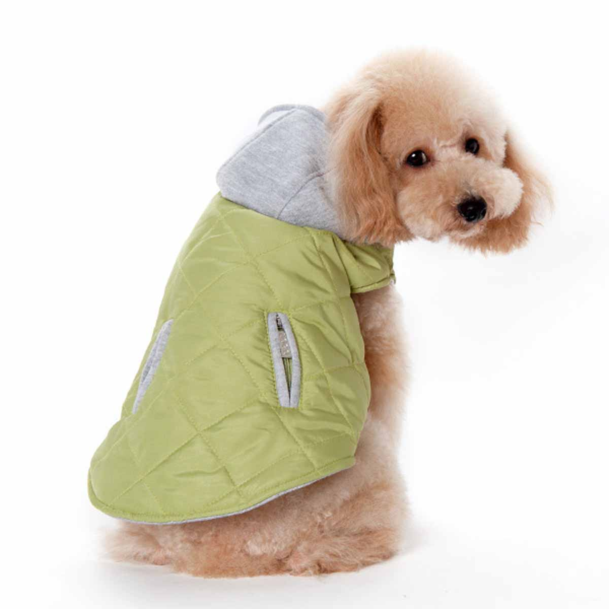 City Puffer Dog Jacket by Dogo - Green