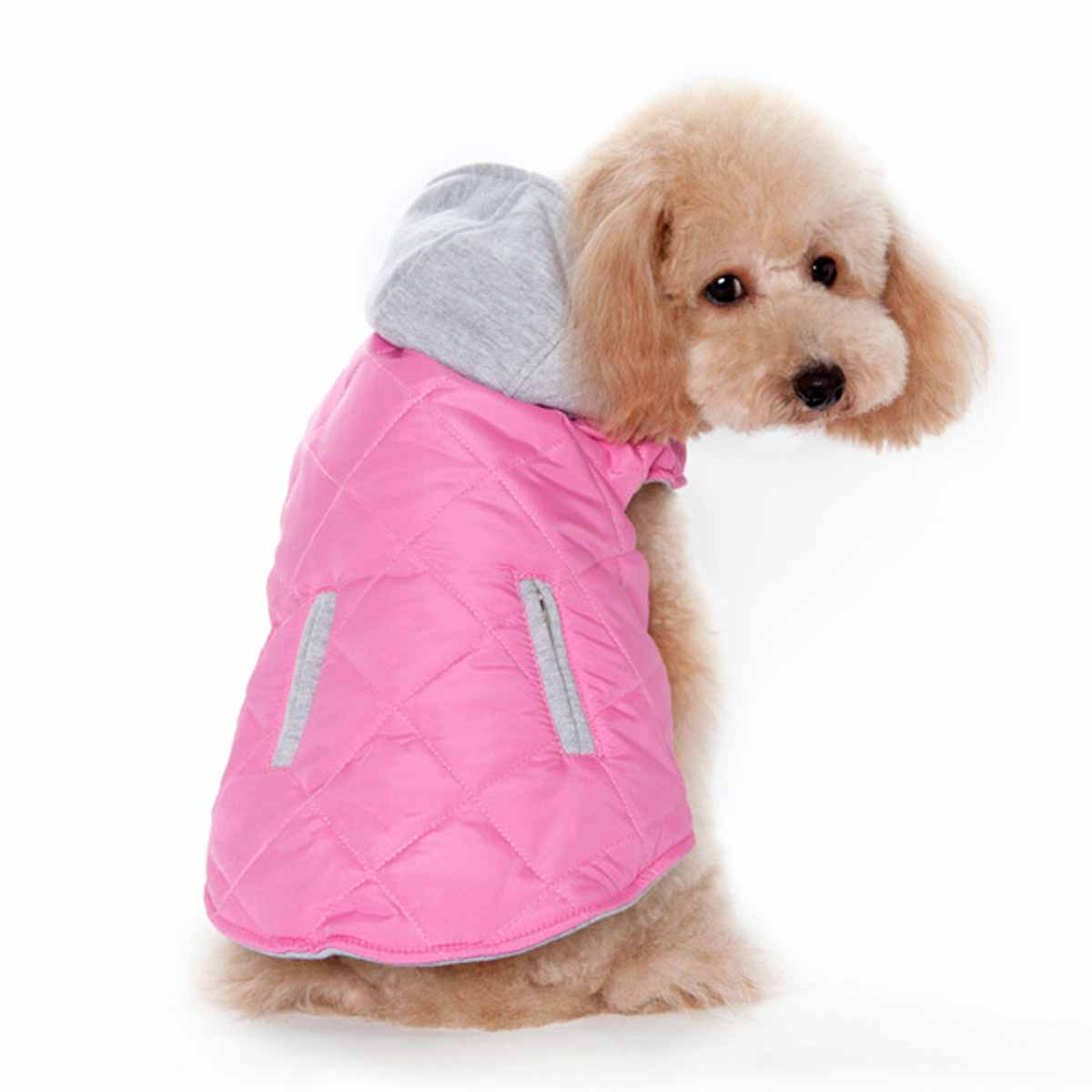 City Puffer Dog Jacket by Dogo - Pink