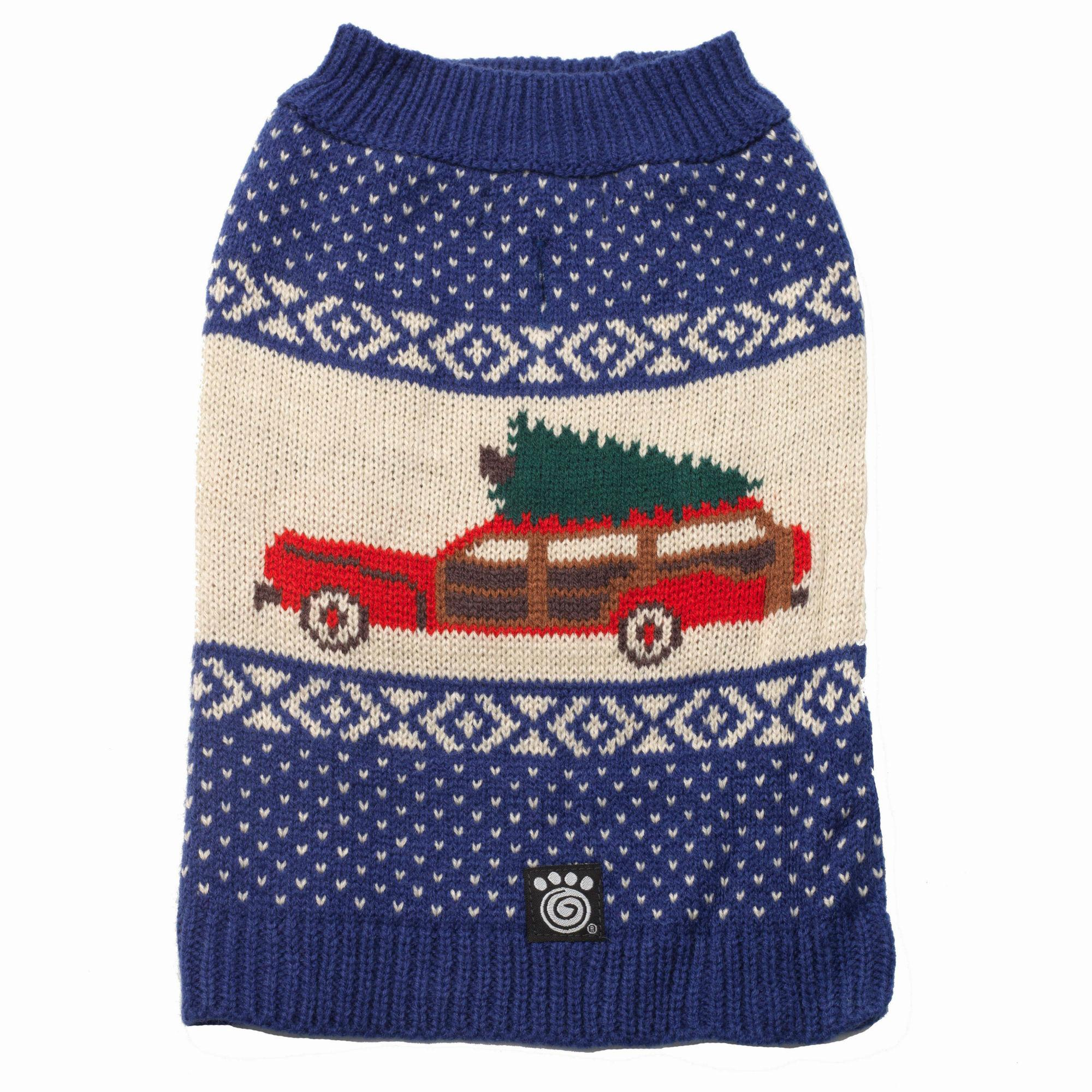 Clark's Wagon & Tree Sweater - Blue Multi