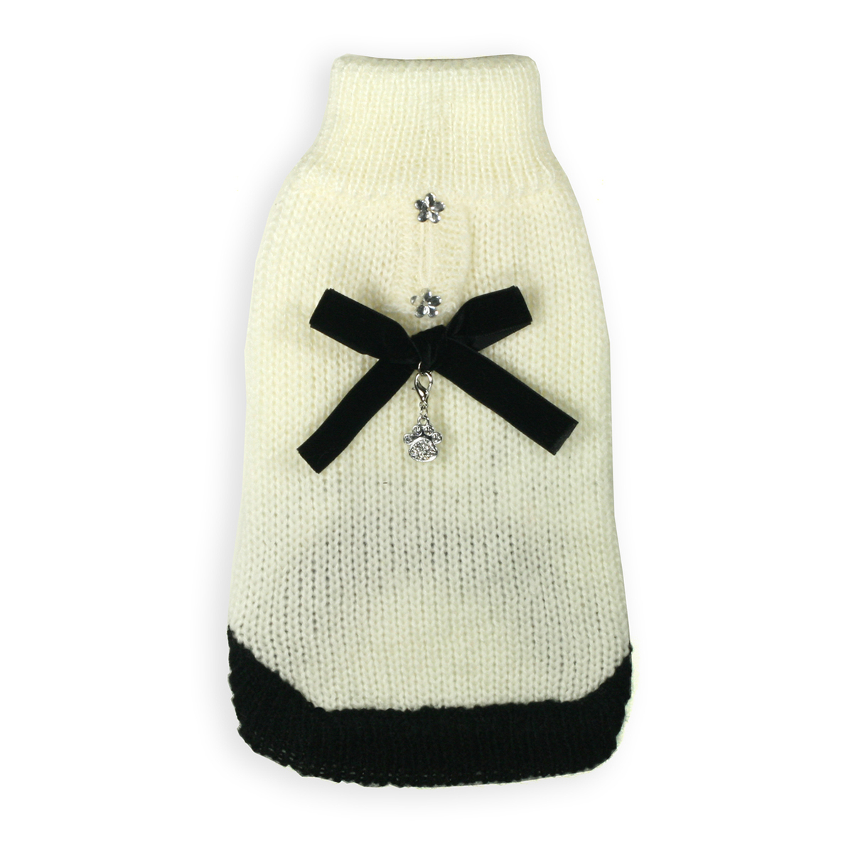Classic Coco Mohair Dog Sweater by Hip Doggie - Cream