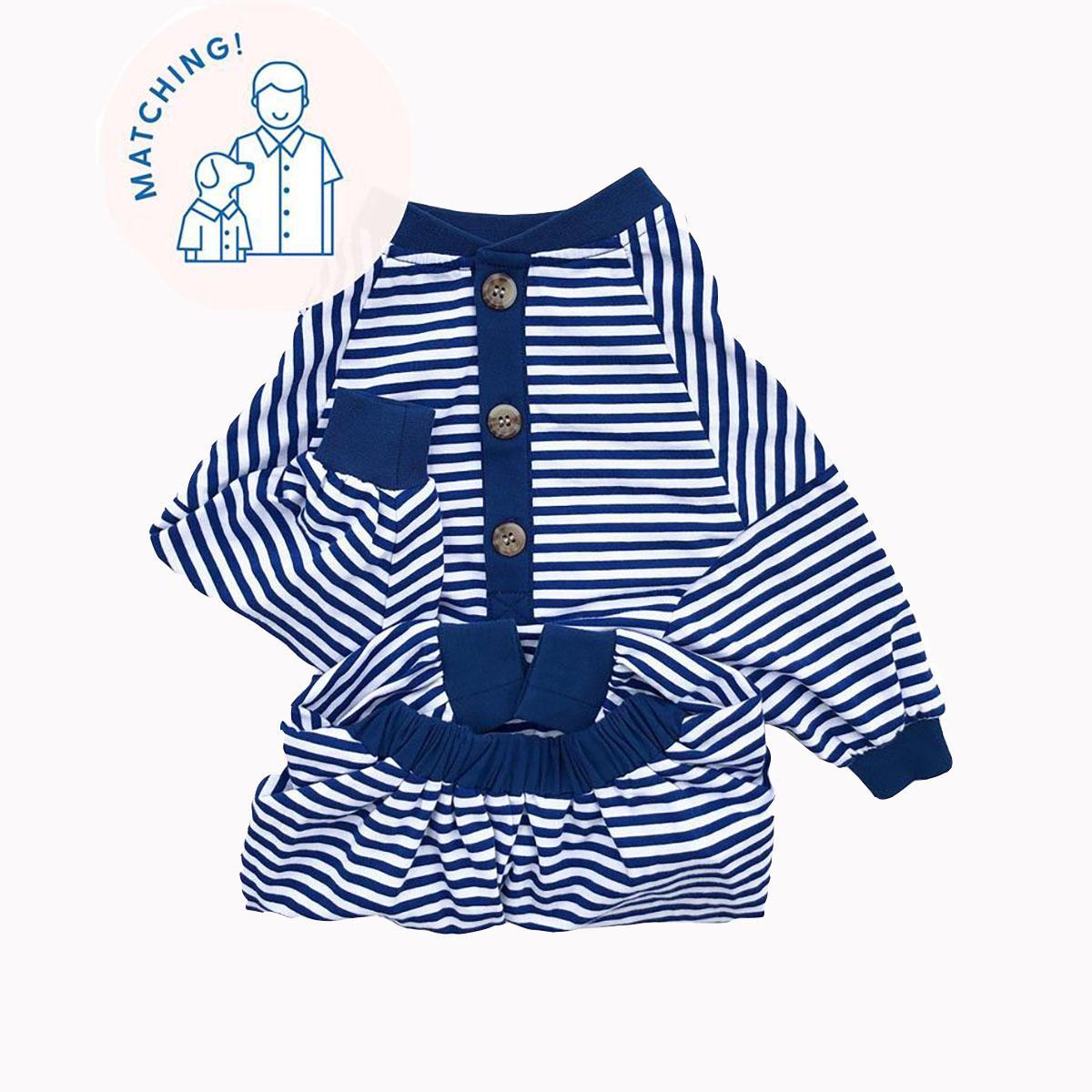 Classic Fam Stripe Dog Pajamas by Dog Threads