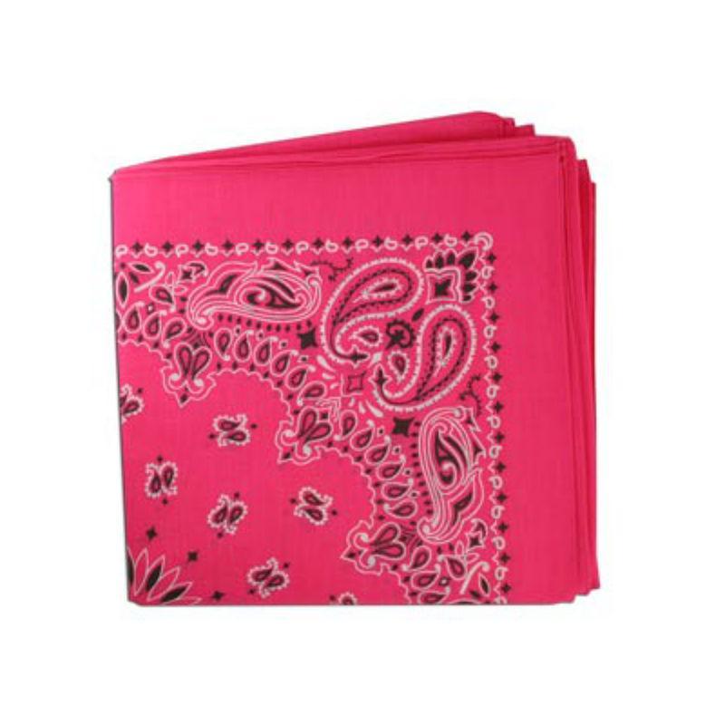 Classic Paisley Dog Bandana - Hot Pink