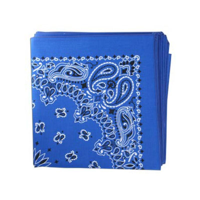 Classic Paisley Dog Bandana - Royal Blue