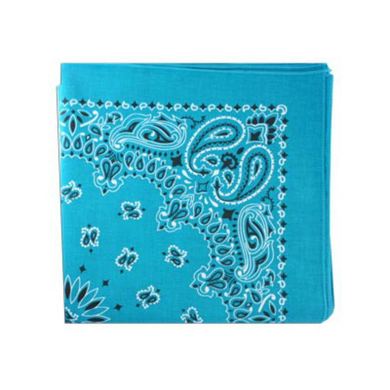 Classic Paisley Dog Bandana - Turquoise