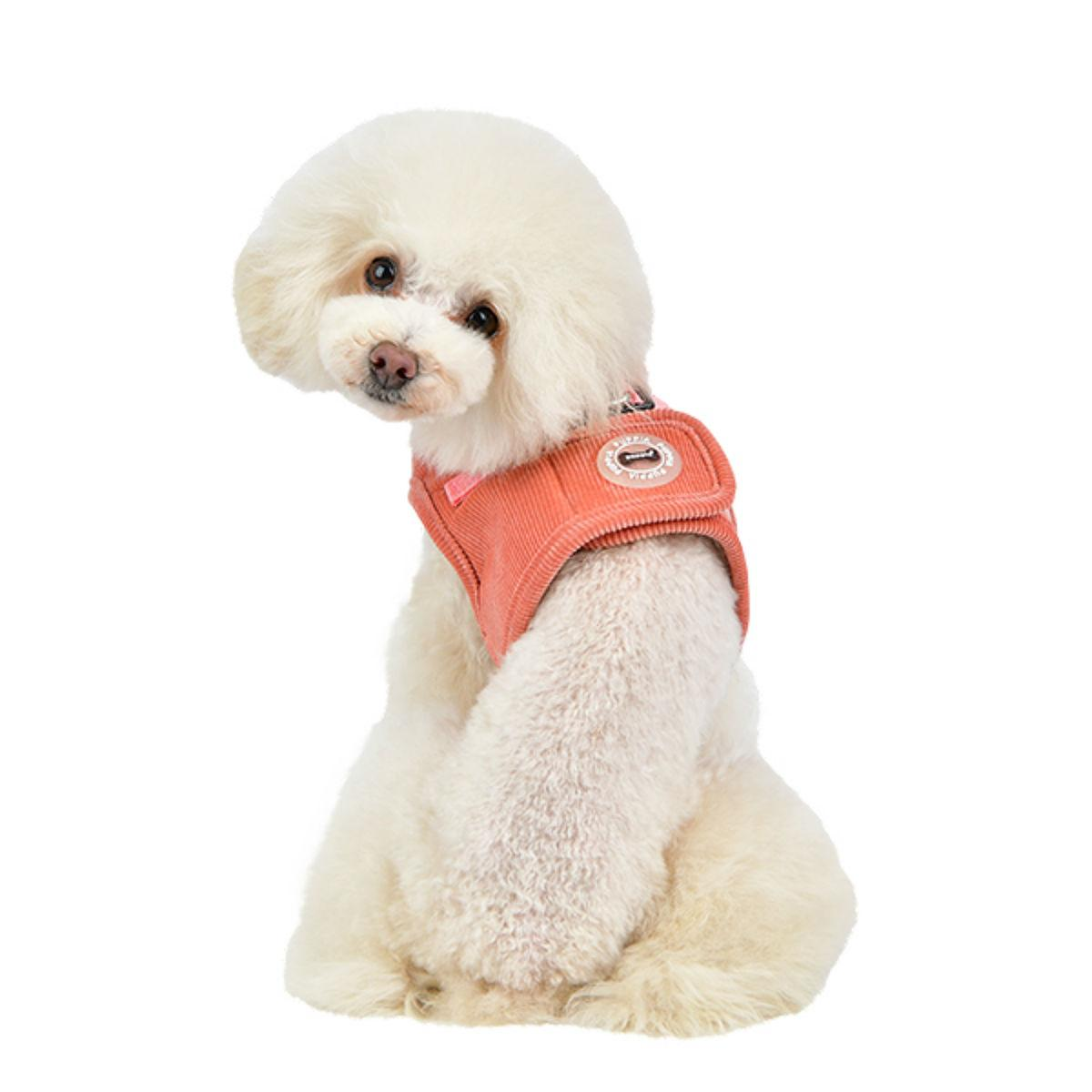 Classy Vest Style Dog Harness By Puppia - Peach