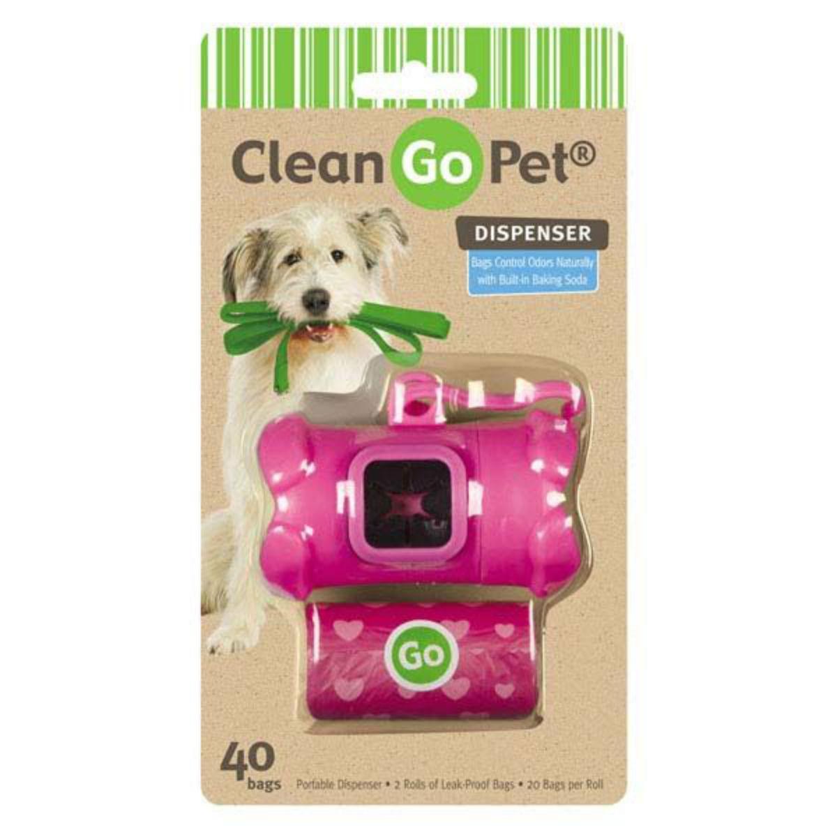 Clean Go Pet Bone Waste Bag Holders - Pink