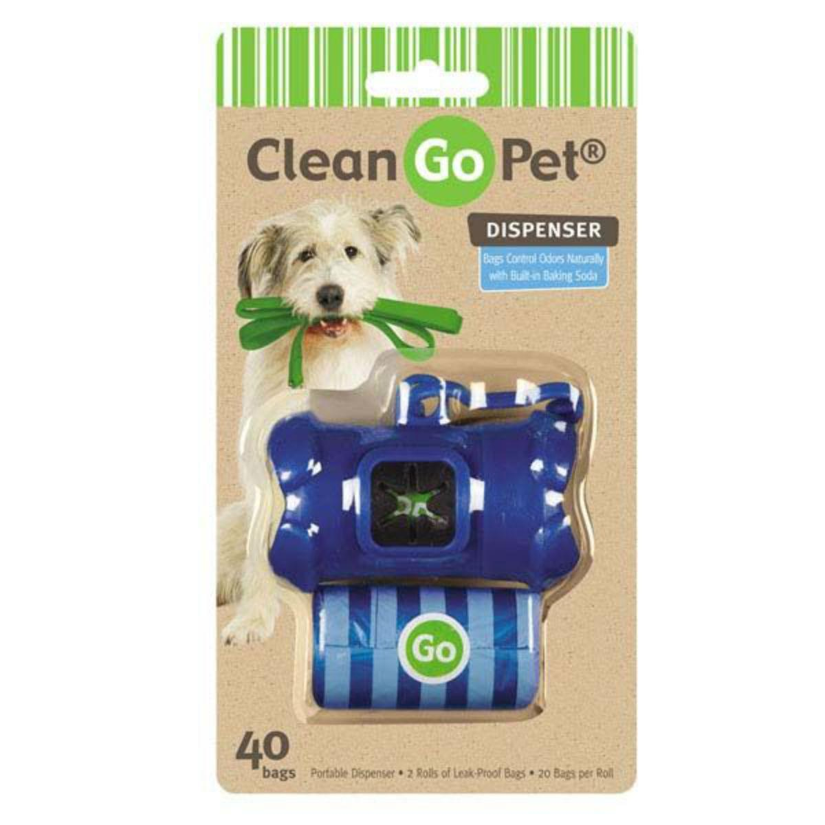 Clean Go Pet Bone Waste Bag Holders - Blue