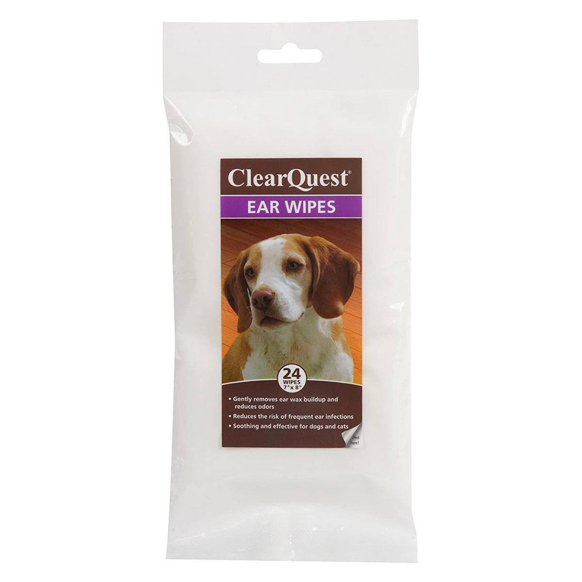 ClearQuest Dog and Cat Ear Wipes