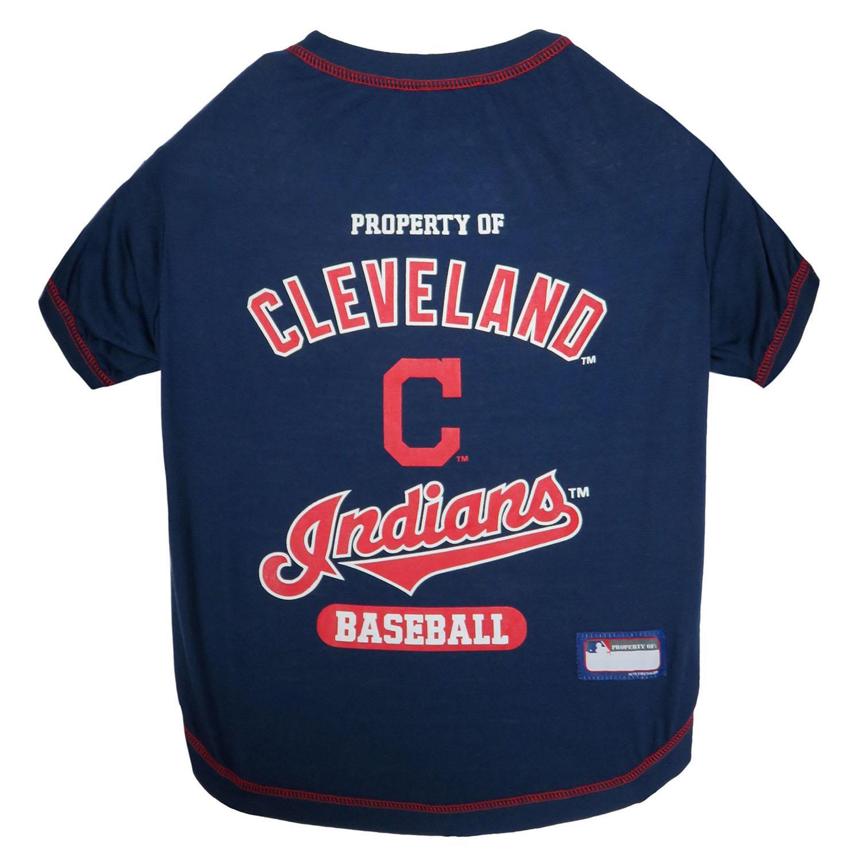 Cleveland Indians Dog T-Shirt - Navy Blue