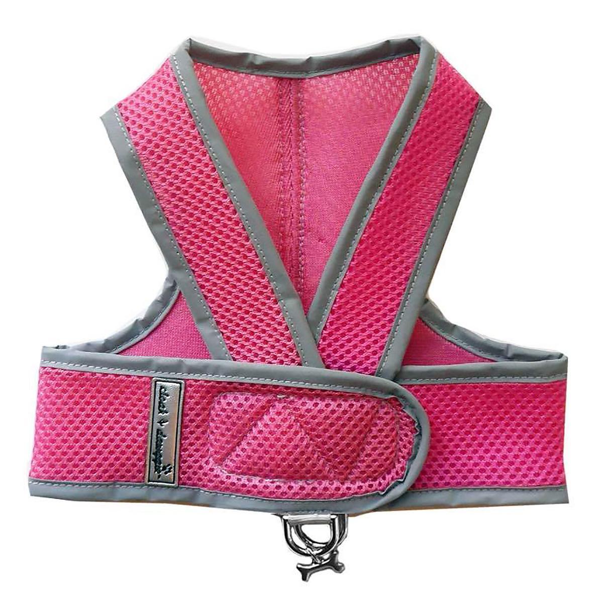Cloak & Dawggie Classic Mesh Step N Go Dog Harness - Pink