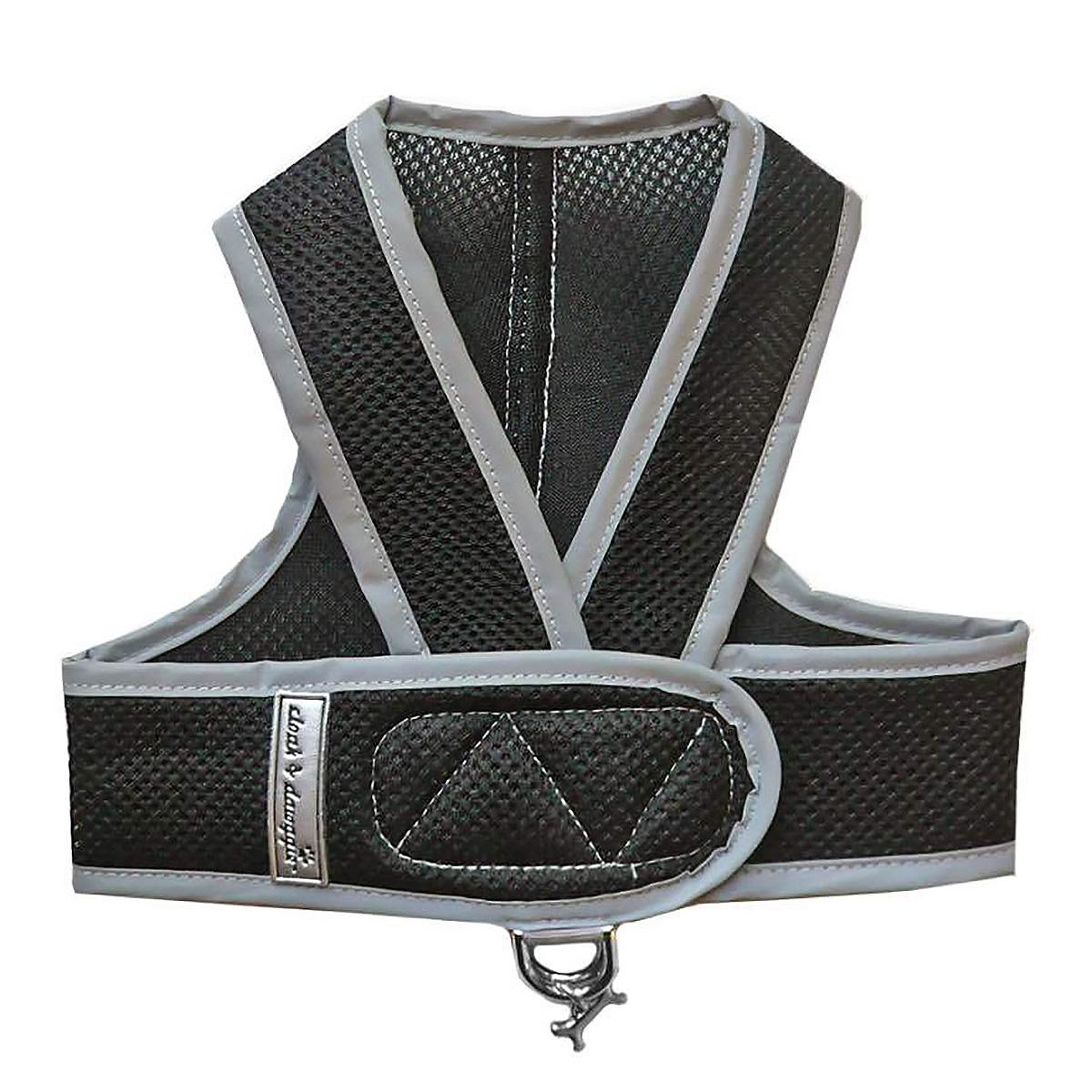 Cloak & Dawggie Classic Mesh Step N Go Dog Harness - Black