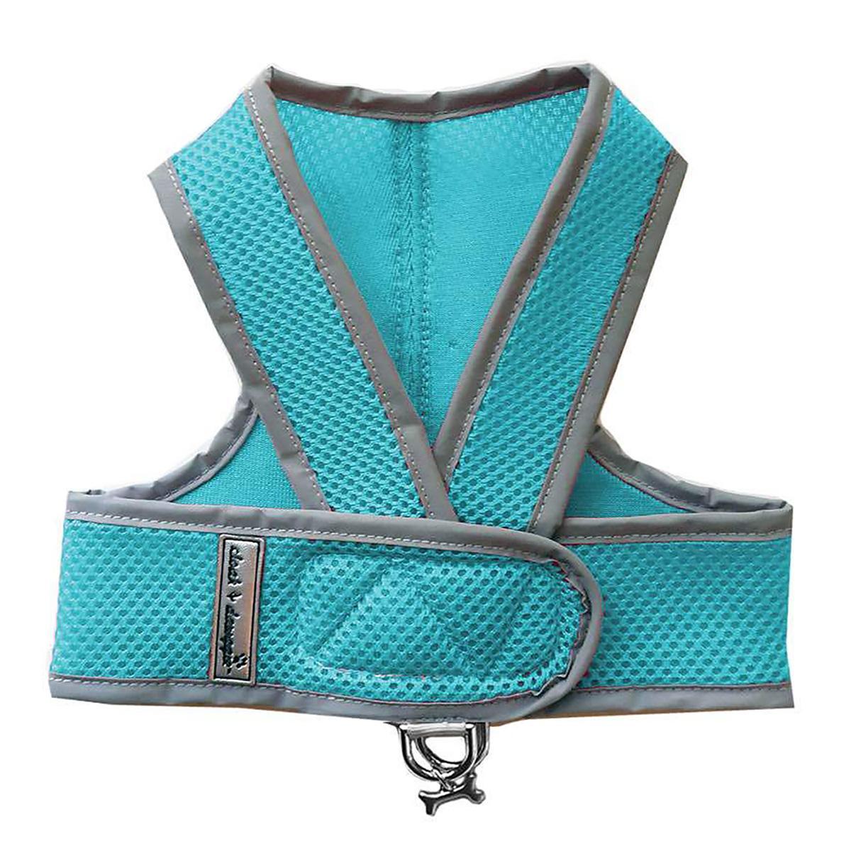 Cloak & Dawggie Classic Mesh Step N Go Dog Harness - Turquoise