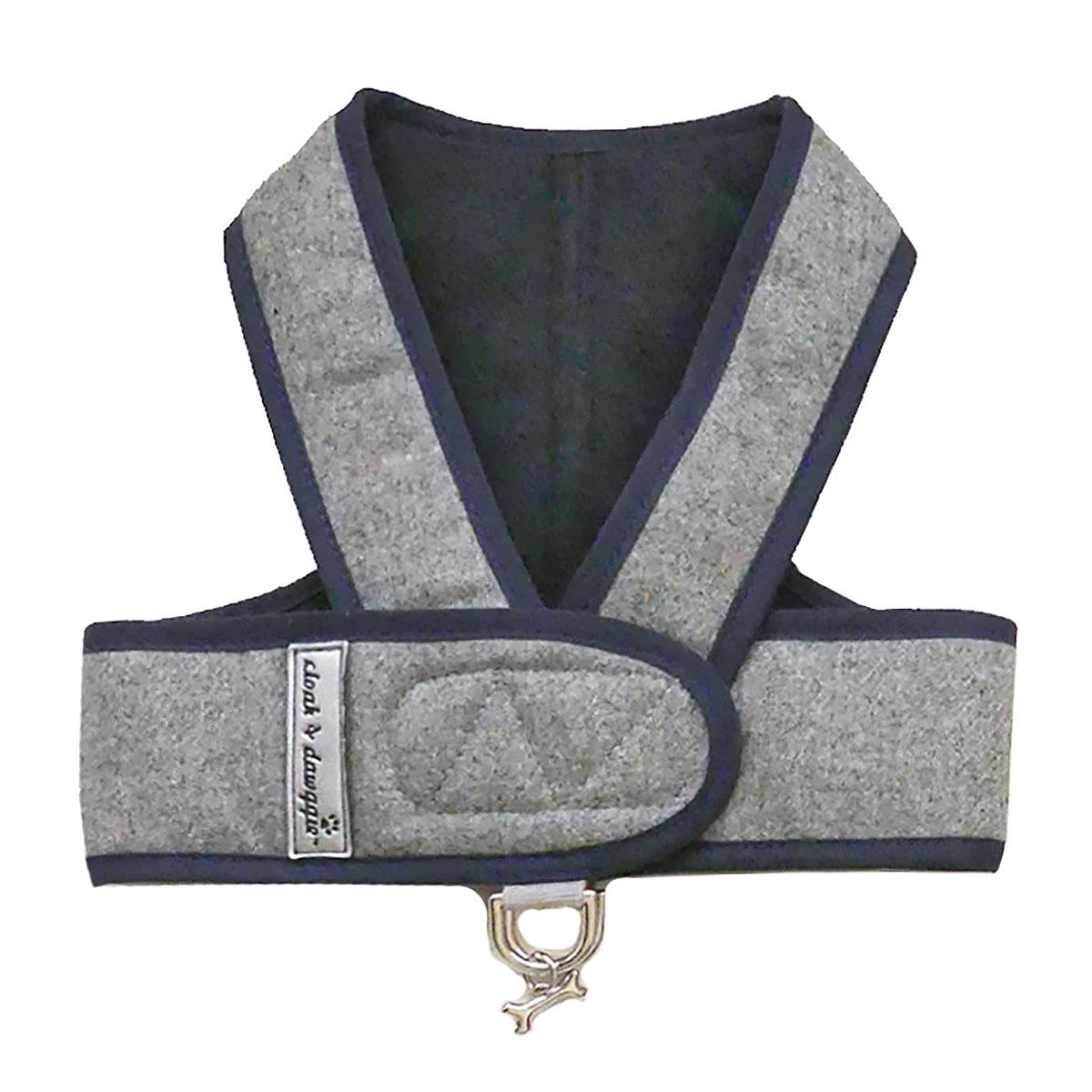 Cloak & Dawggie Flannel Step N Go Dog Harness - Navy