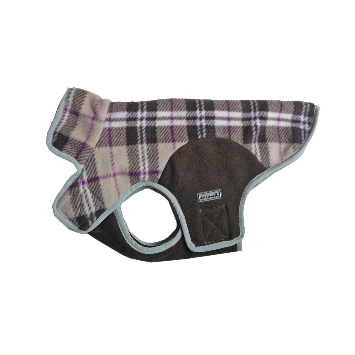 Cloak & Dawggie Precision Fit Fleece Dog Jacket - Tan Plaid