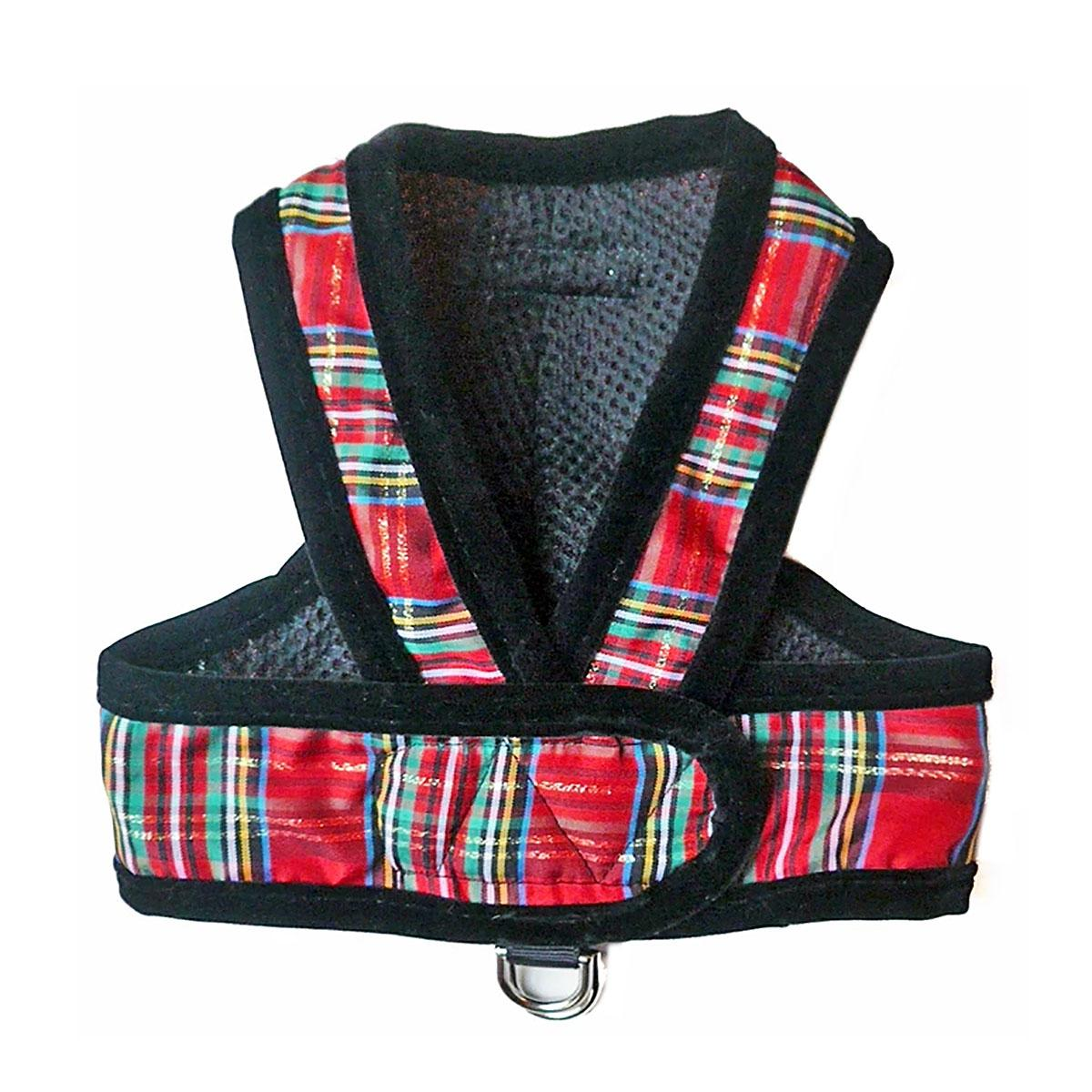 Cloak & Dawggie Step-N-Go Dog Harness - Holiday Tartan
