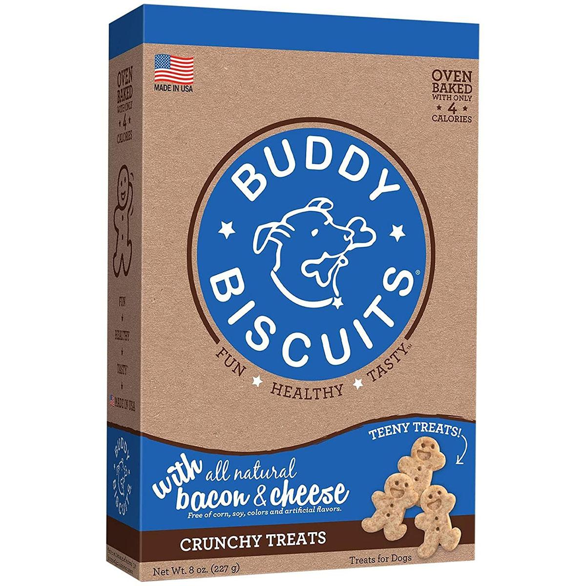 Buddy Biscuits Itty Bitty Dog Treats - Bacon & Cheese