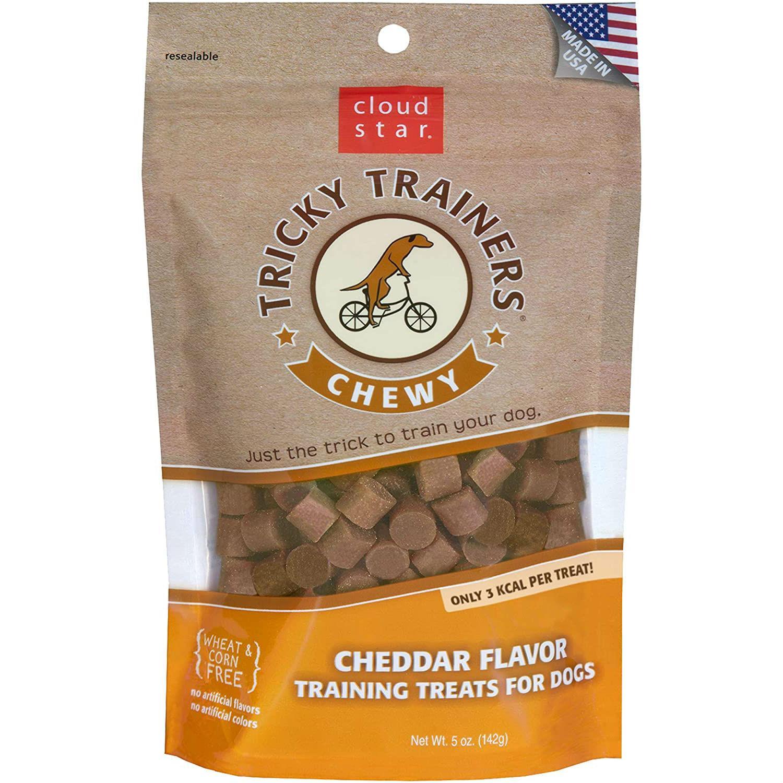 Cloud Star Crunchy Tricky Trainers Dog Treats - Cheddar Flavor