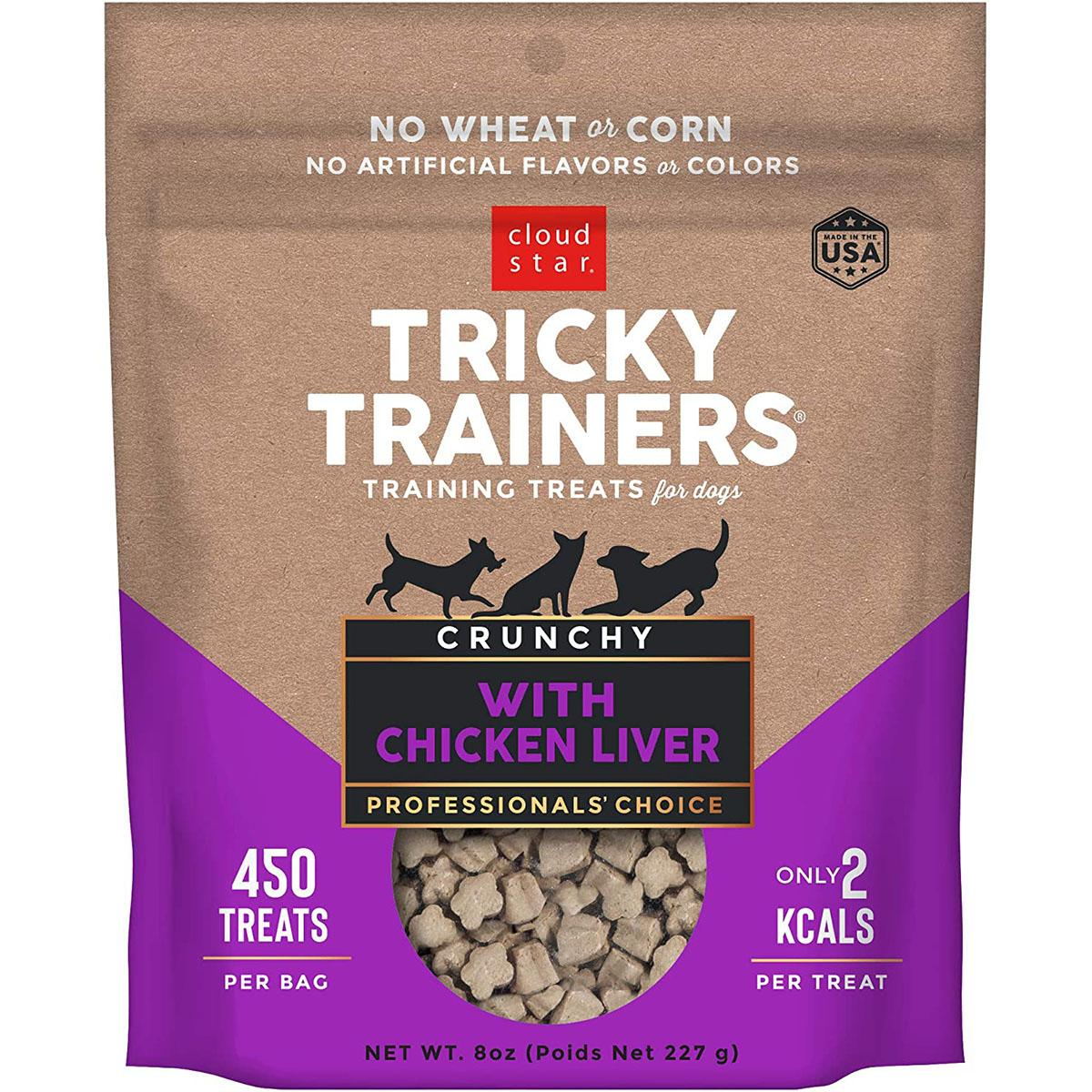 Cloud Star Crunchy Tricky Trainers Dog Treats - Chicken Liver Flavor
