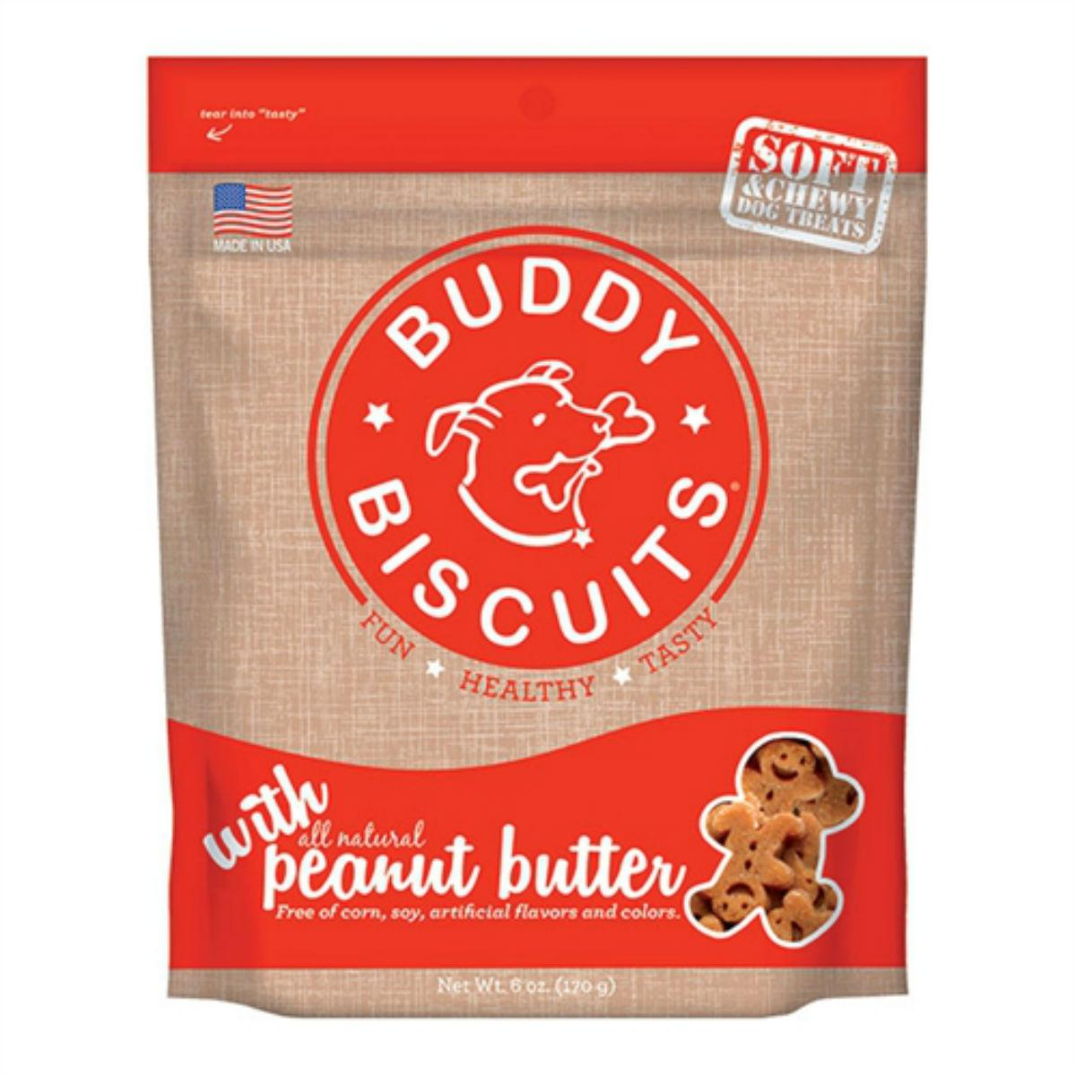 Buddy Biscuits Grain-Free Soft & Chewy Dog Treat - Homestyle Peanut Butter
