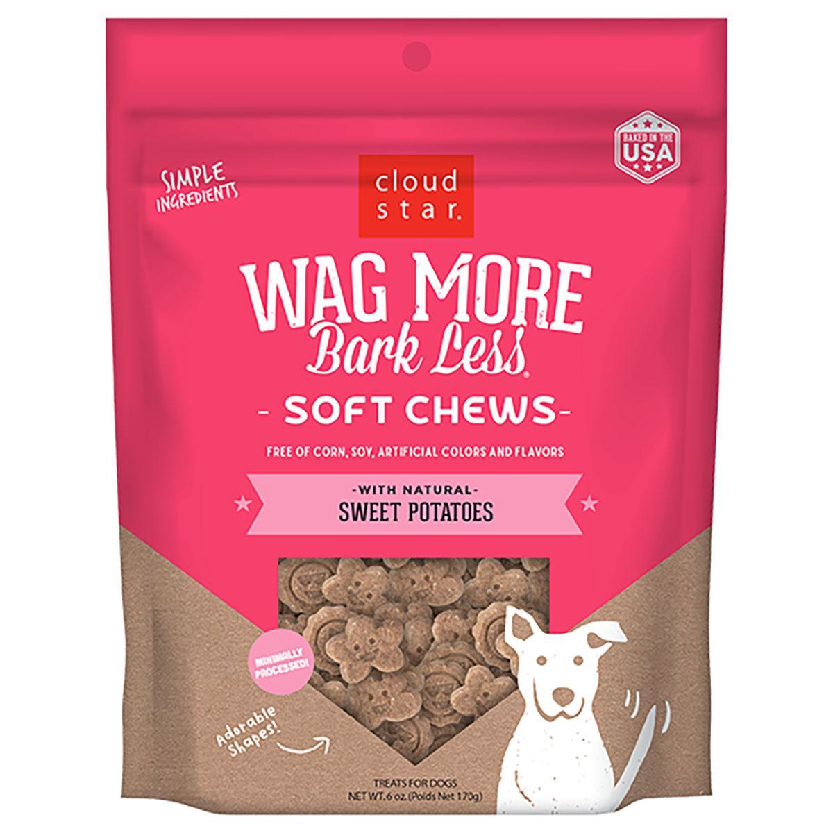 Cloud Star Wag More Bark Less Soft & Chewy Treats - Sweet Potato