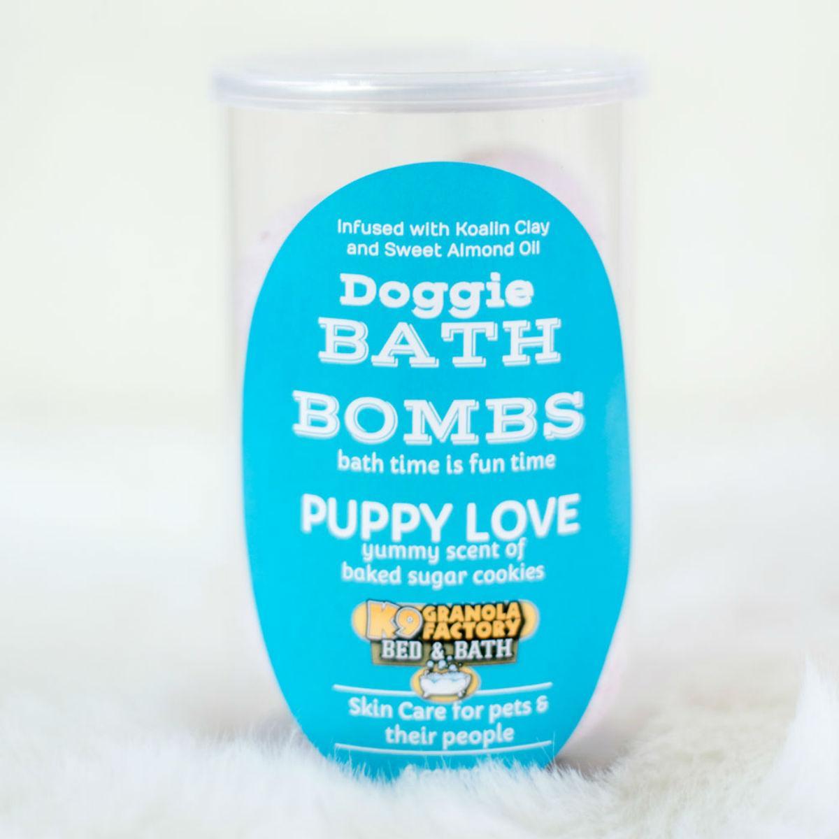 K9 Granola Factory Puppy Love Dog Bath Bomb - 6 Pack