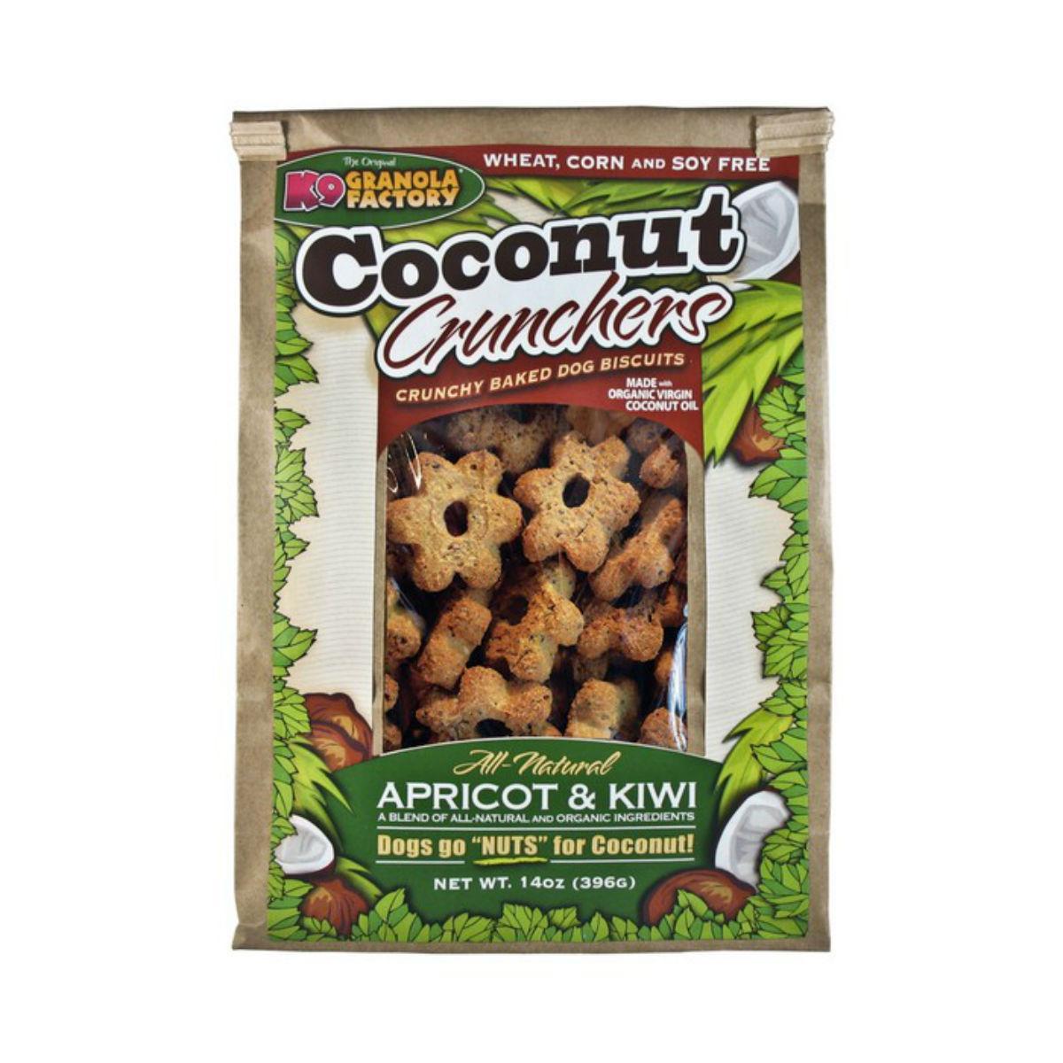 K9 Granola Factory Coconut Crunchers Dog Treat - Apricot & Kiwi
