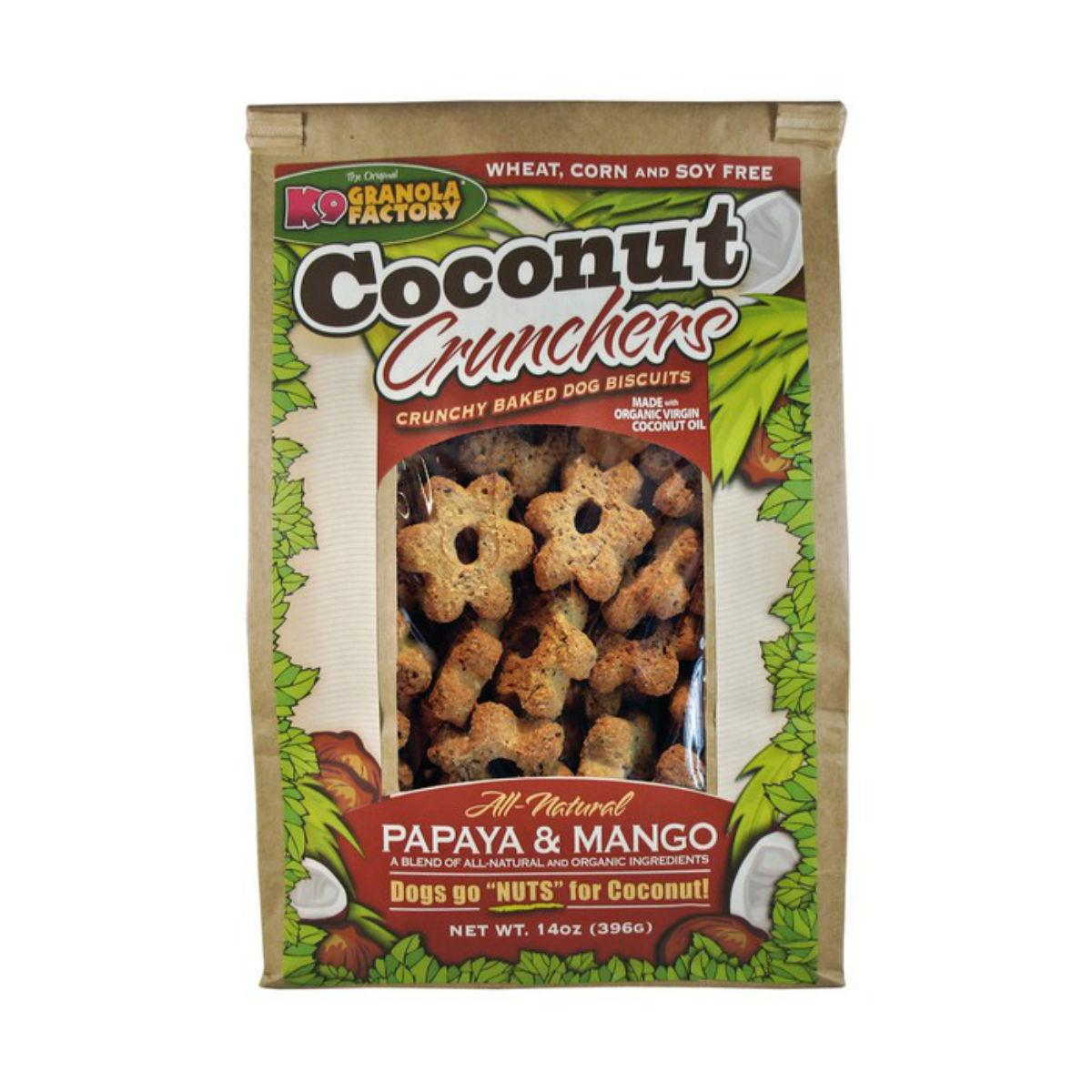 K9 Granola Factory Coconut Crunchers Dog Treat - Papaya & Mango