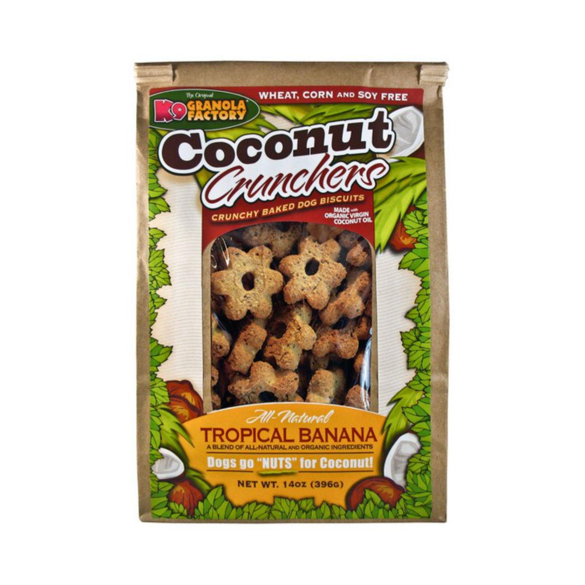 K9 Granola Factory Coconut Crunchers Dog Treat - Tropical Banana