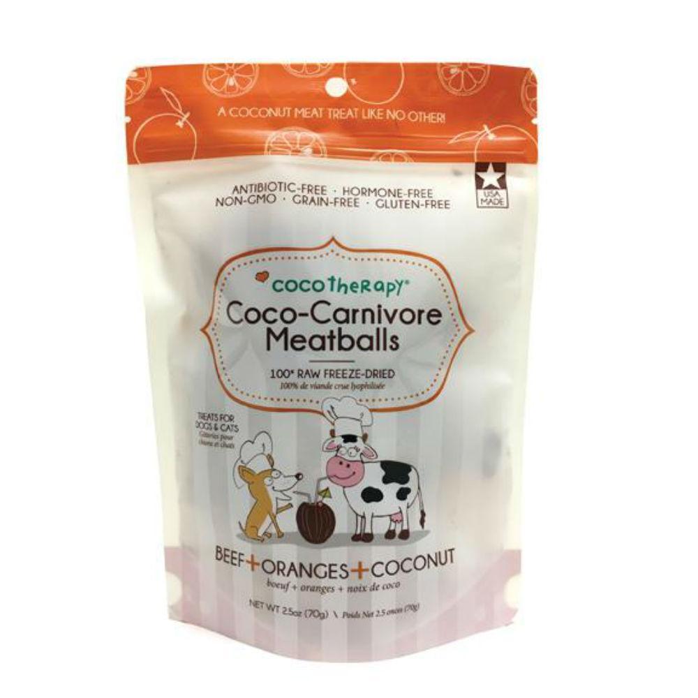 CocoTherapy Coco-Carnivore Meatballs Pet Treats - Beef