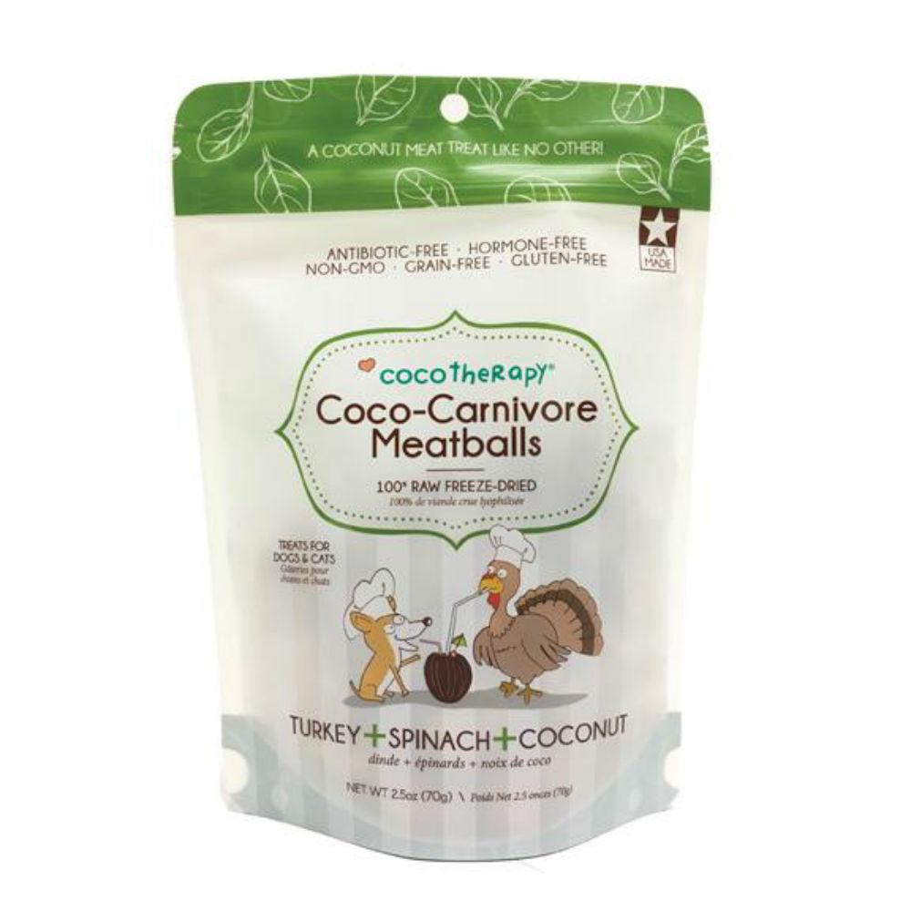 CocoTherapy Coco-Carnivore Meatballs Pet Treats - Turkey