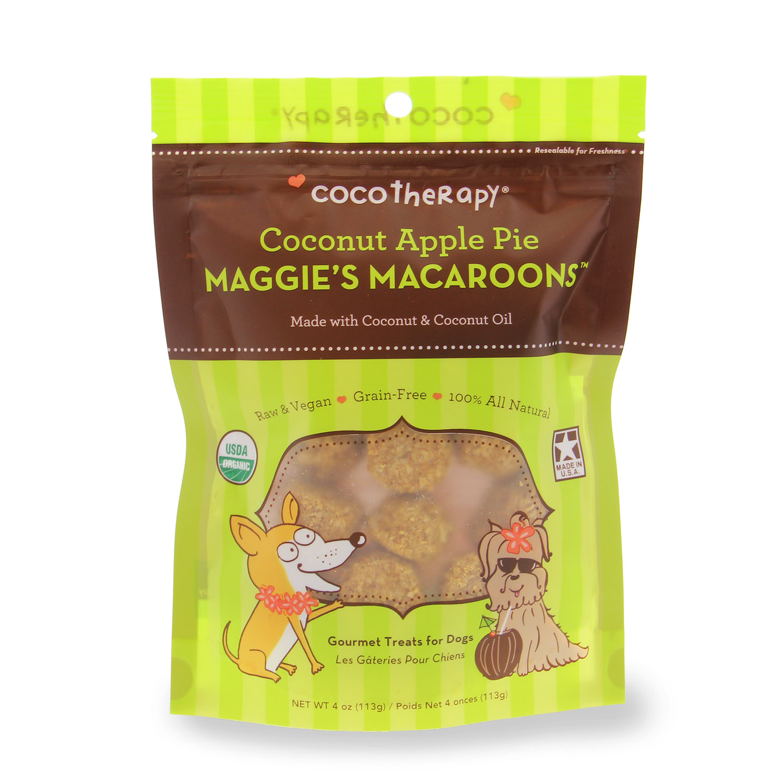 CocoTherapy Maggie's Macaroons Pet Treat - Coconut Apple Pie