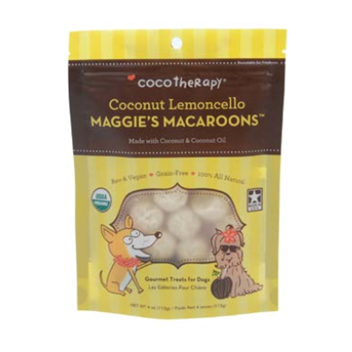 CocoTherapy Maggie's Macaroons Pet Treat - Coconut Lemoncello