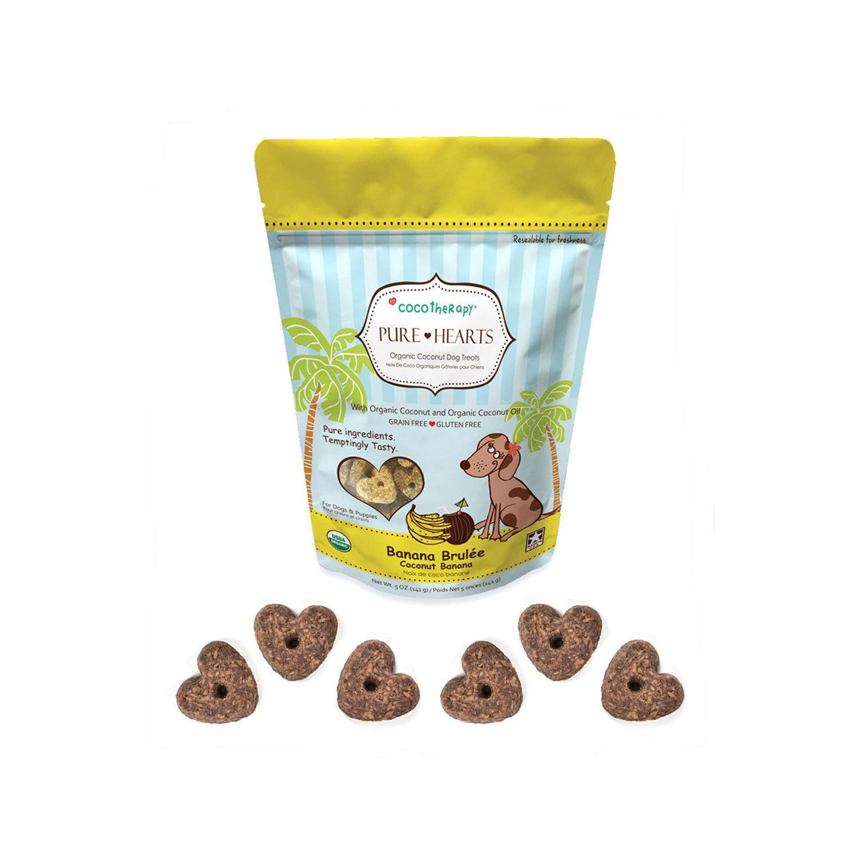 CocoTherapy Pure Hearts Organic Dog Treats - | BaxterBoo