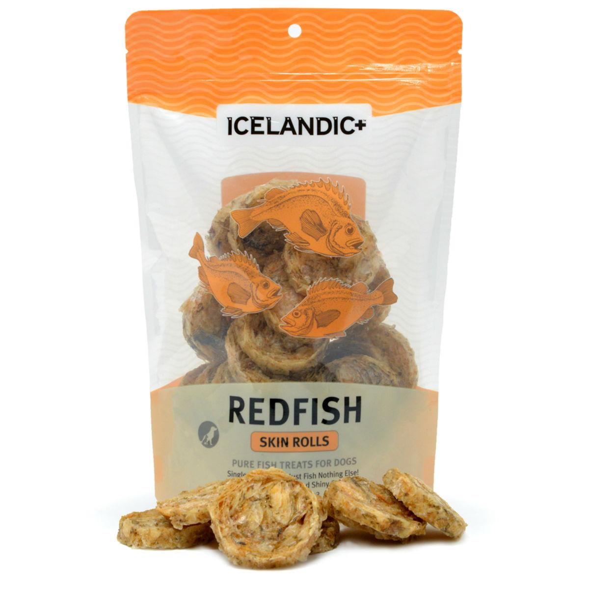 Redfish Skin Rolls Dog Treats by Icelandic+