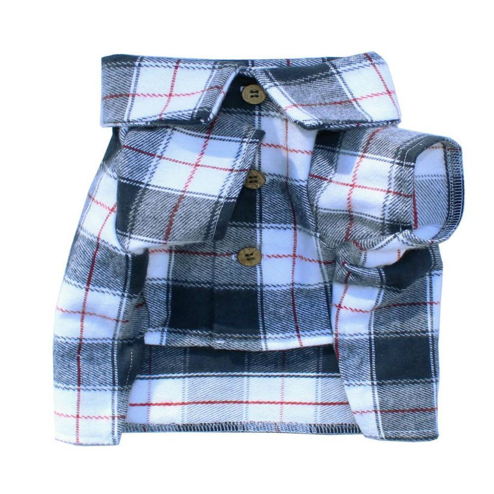 Collegiate Flannel Dog Shirt By Dog Threads