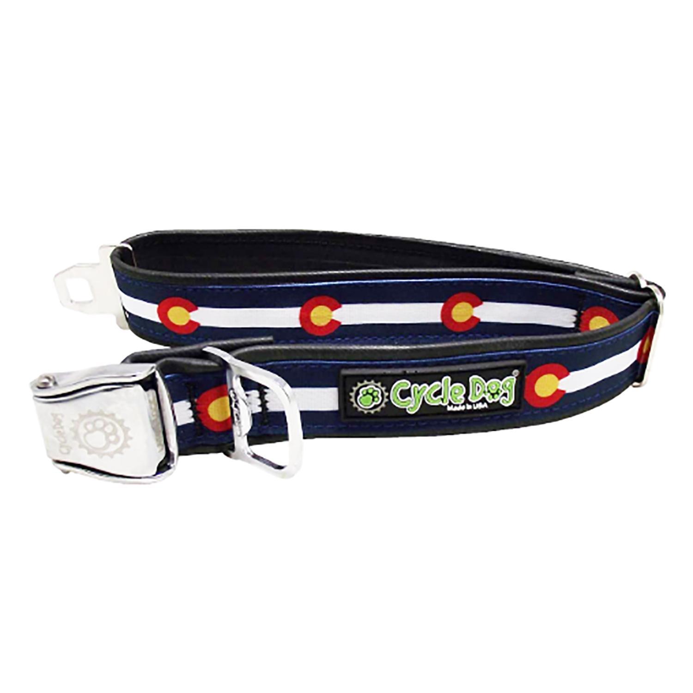 Colorado Metal Latch Dog Collar by Cycle Dog