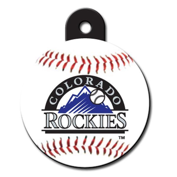 Colorado Rockies Engravable Pet I.D. Tag