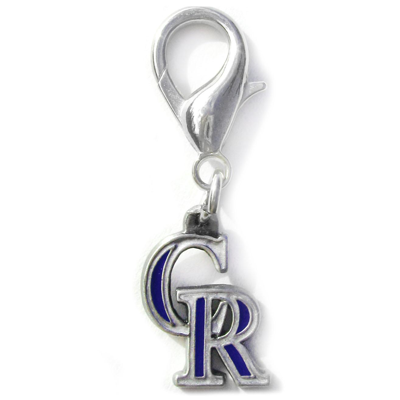 Colorado Rockies Logo Dog Collar Charm