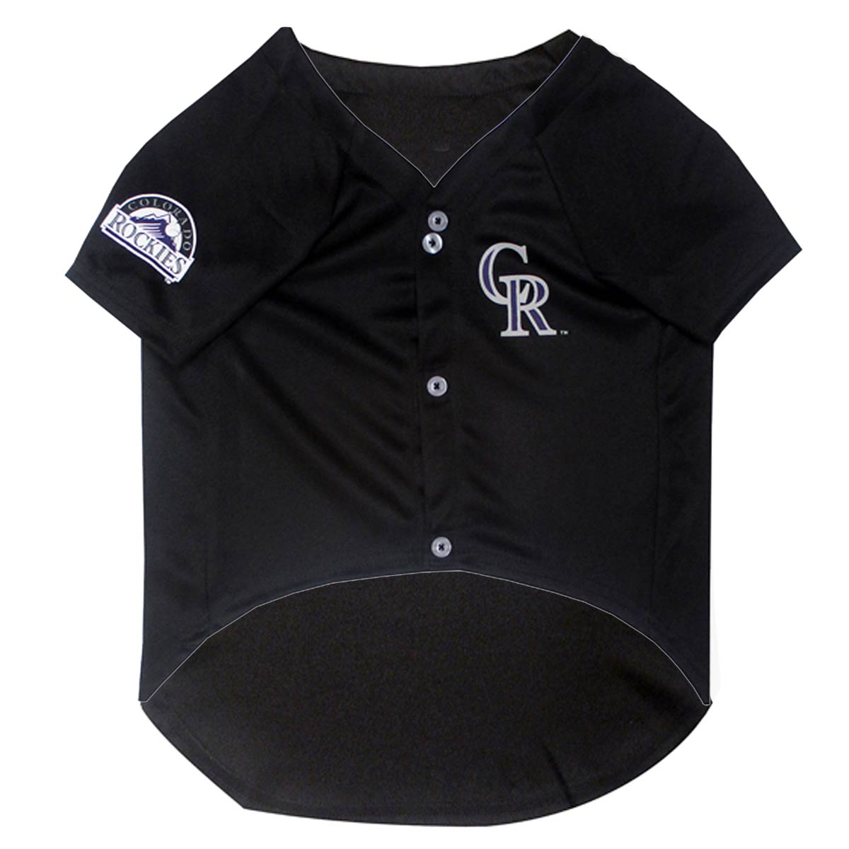 huge selection of 6d741 38a68 Colorado Rockies Officially Licensed Dog Jersey - Black