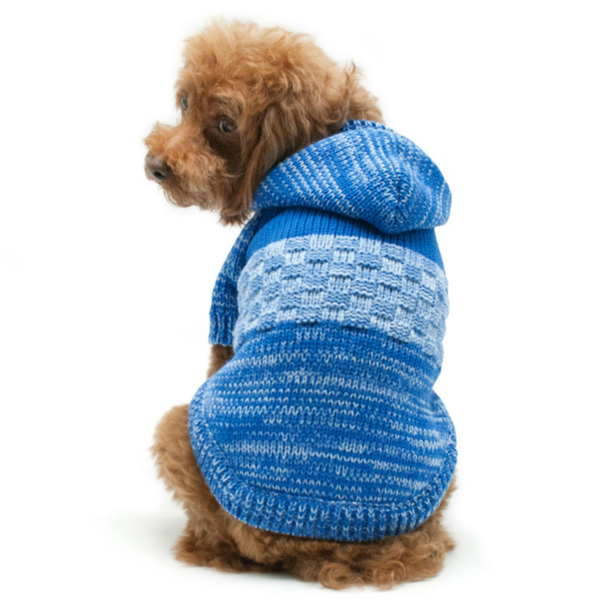 Colorblock Sweater Dog Coat by Dogo - Blue