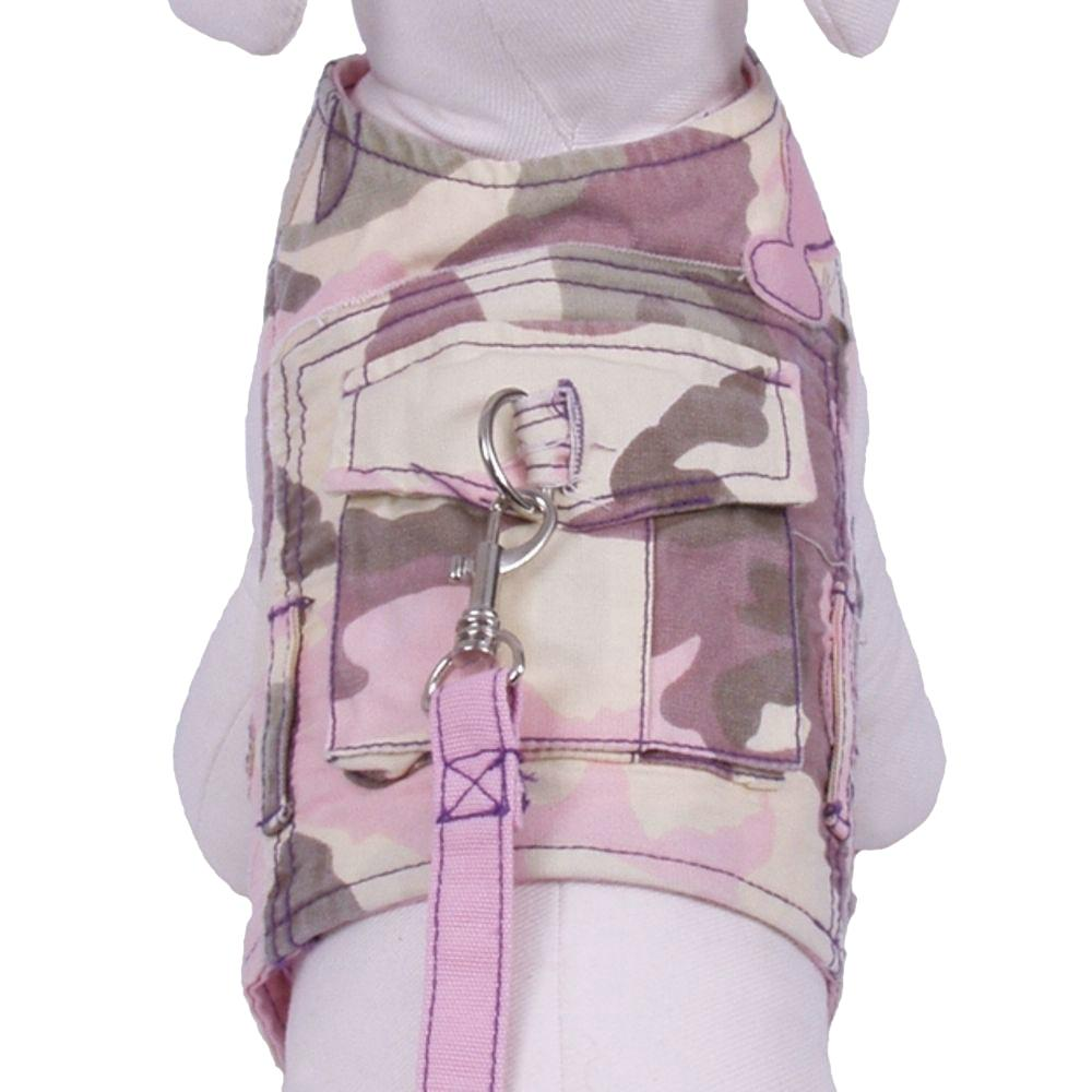 Combat Dog Harness with Leash by Cha-Cha Couture - Pastel Camo