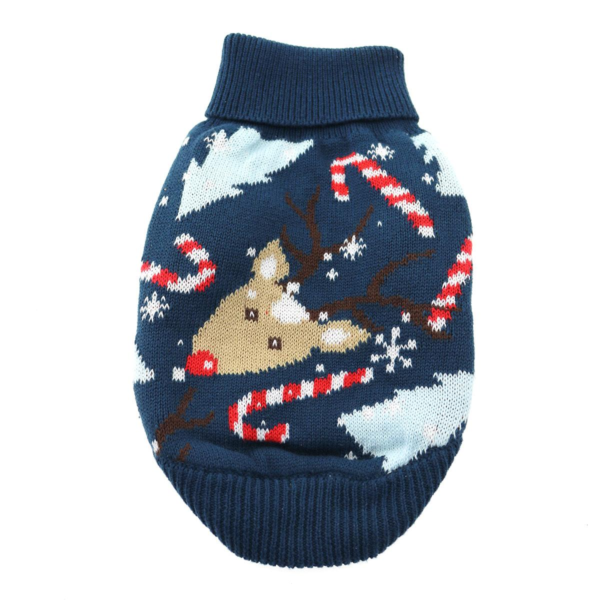 Holiday Reindeer Ugly Dog Sweater by Doggie Design